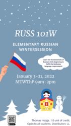 RUSS 101W Elementary Russian 101 Wintersession
