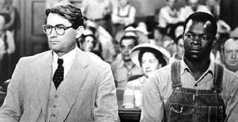 "courtroom scene in ""To Kill a Mockingbird"""
