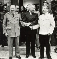 Churchill, Roosevelt and Stalin