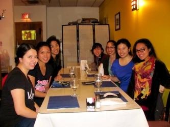 club filipino posing at a restaurant