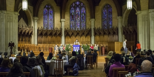 service in the Houghton Chapel