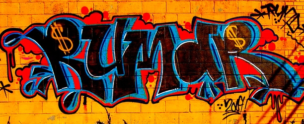 colorful graffiti on a wall in detroit