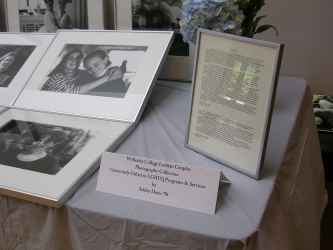 framed photos and letters