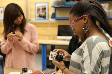 students experiment with bike bells