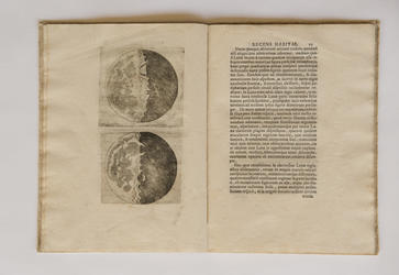 printed text with moon etchings