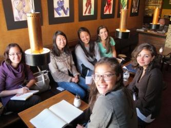 students eating in Icelandic restaurant