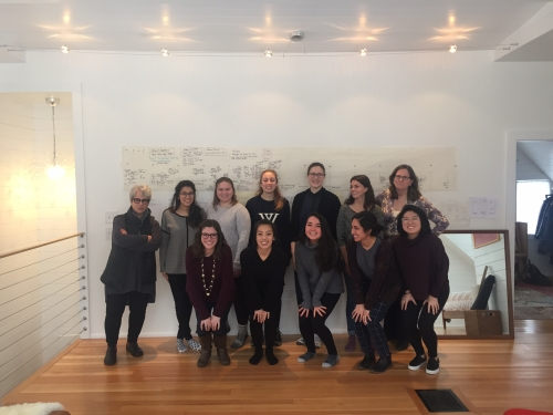 ARTH 309 class at the Katherine Lee Bates House