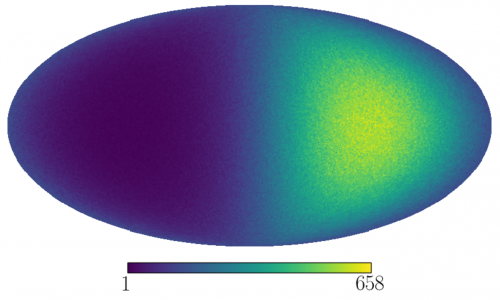 The expected dark matter skymap