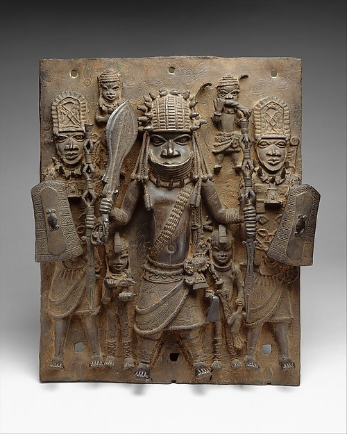 """Warrior and Attendants"" Court of Benin, 16-17th Century, The Metropolitan Museum of Art"