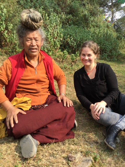 Dr. Lewis and a Tibetan yogi