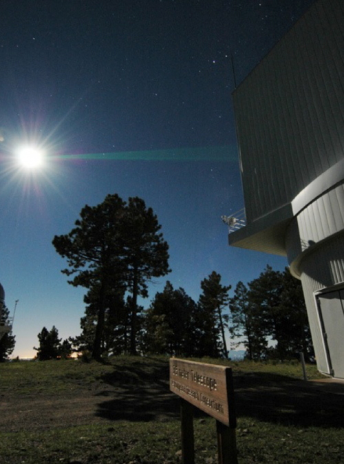 The Apache Point Observatory Lunar Laser-ranging Operation (APOLLO) in action.