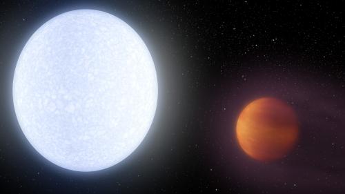 Artist depiction of the planet KELT-9b