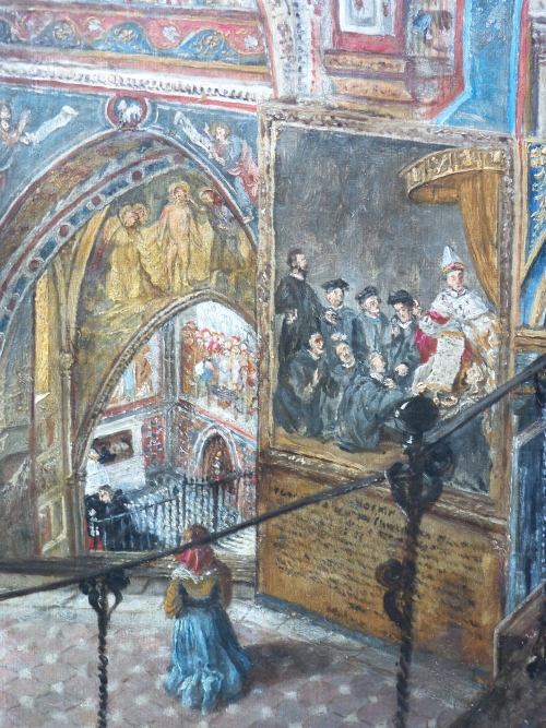 Mary Elizabeth Williams, Sacro Speco at San Benedetto, Subiaco (detail), oil on canvas, circa 1882