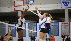 Wellesley volleyball in action